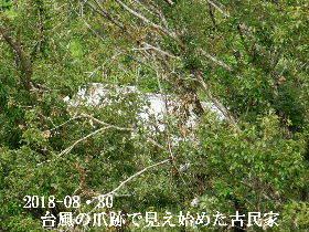 2018-08・30 台風の爪跡で見え始めた古民家.JPG